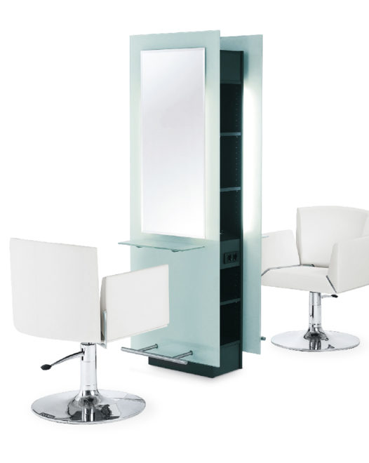 PAC OLYMP Fashion Screen Clear centrale kaptafel 2 plaatsen