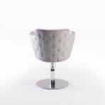 CINDARELLA Mademoiselle kappersstoel op ronde schijfvoet met swarovski steentjes