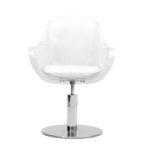 Fauteuil de coupe MANON, du raffinement au confort, siège en plexiglas 10 mm.
