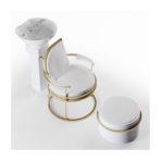 CINDARELLA Watson wasunit in wit met stalen structuur in goud en apart benensteun