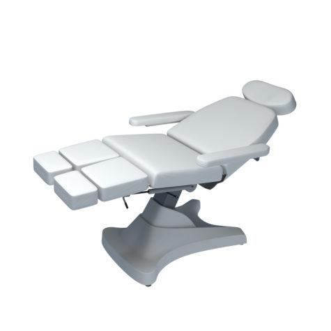COSMODERM Divina 2K+ Soft behandelbank wit met afzonderlijk verstelbare beeneinden