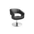 KIELA Vibe kappersstoel zwart op ronde schrijfvoet