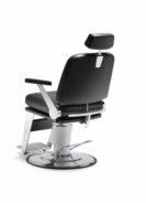 Stuhl Legend mit Fußbank, Kopfhalter, Holzarmlehnen . schräg von hinten (Small)